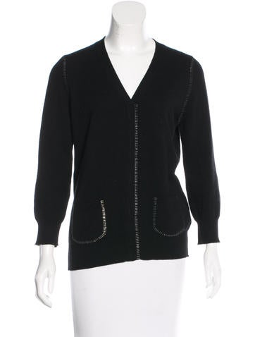 Marc Jacobs Cashmere Three-Quarter Sleeve Sweater None