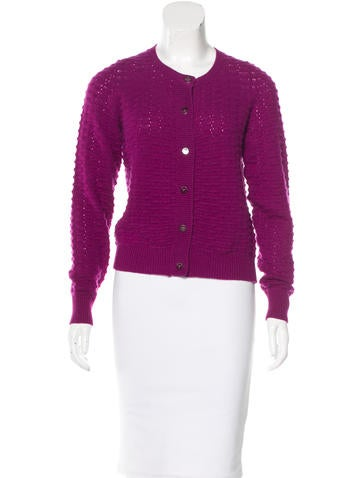 Marc Jacobs Cashmere Waffle Knit Cardigan None