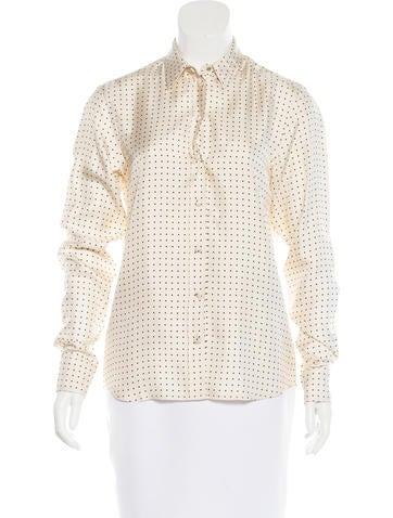 Marc Jacobs Long Sleeve Button-Up Top None