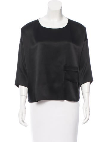 Marc Jacobs Oversize Silk Top None