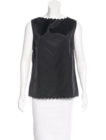Marc Jacobs Scallop-Trimmed Sleeveless Top w/ Tags None