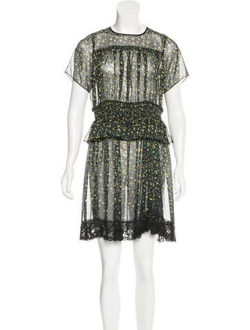Marc Jacobs Silk Printed Dress w/ Tags None