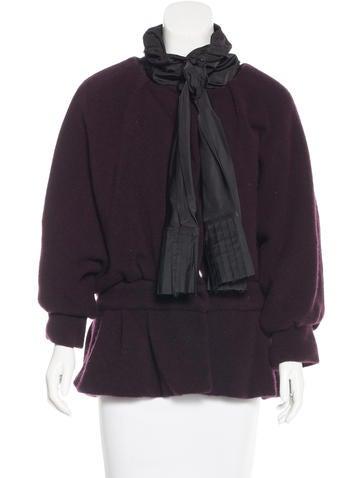 Marc Jacobs Draped Rib Knit Jacket None