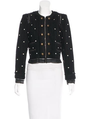 Marc Jacobs Chain-Embellished Cropped Jacket None