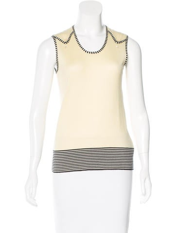 Marc Jacobs Cashmere & Silk-Blend Top None