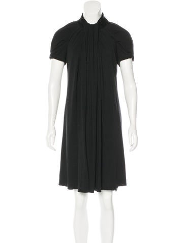 Marc Jacobs Draped Wool Dress None