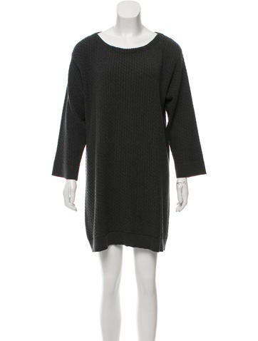 Marc Jacobs Cable Knit Sweater Dress None