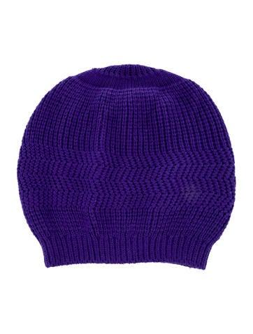 Marc Jacobs Purple Knit Beanie None