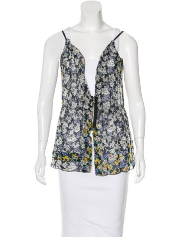 Marc Jacobs Silk Floral Print Top None
