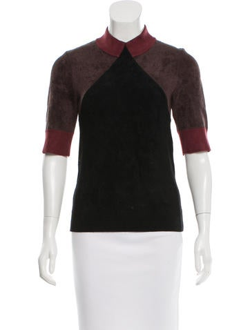 Marc Jacobs Contrast Mock Neck Top None
