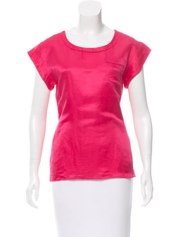 Marc Jacobs Satin Short Slevee Top None