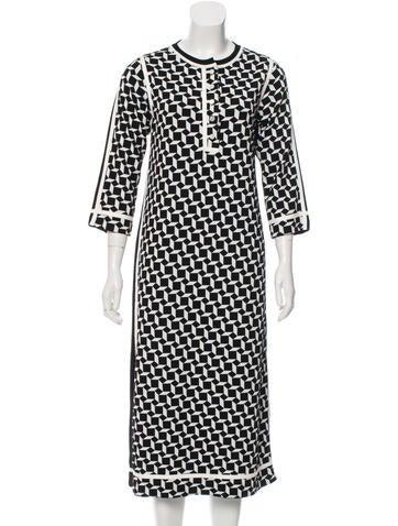 Marc Jacobs Virgin Wool-Blend Geometric Dress None