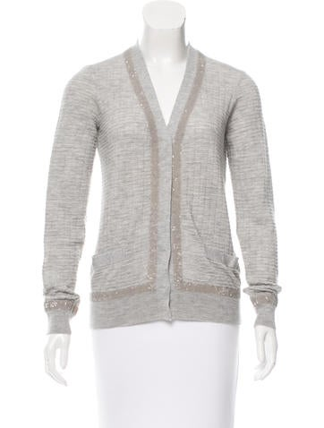 Marc Jacobs Cashmere & Silk-Blend Cardigan w/ Tags None