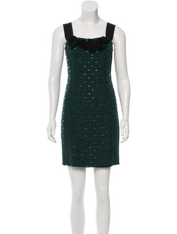 Marc Jacobs Polka Dot Mini Dress None