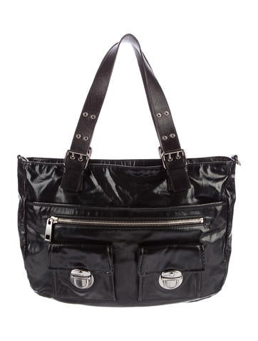 Marc Jacobs Leather-Trimmed Tote None