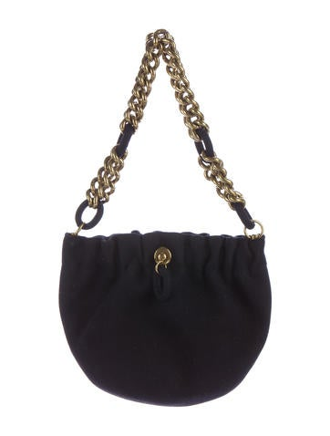 Chain-Accented Shoulder Bag