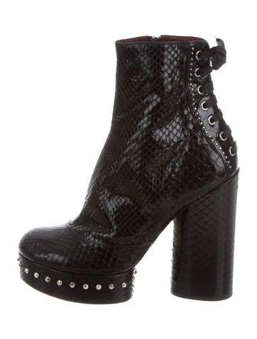 Marc Jacobs Python Platform Ankle Boots