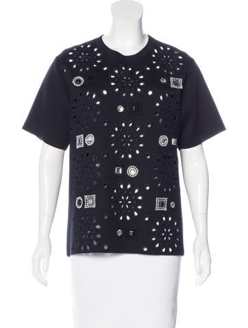 Marc Jacobs Cashmere-Blend Embellished Top None