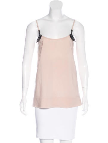 Marc Jacobs Silk Embellished Top None