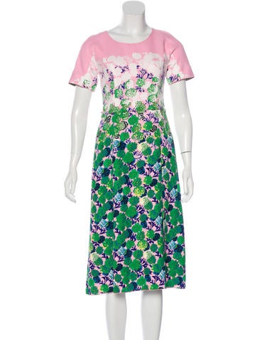 Marc Jacobs Floral Print Midi Dress