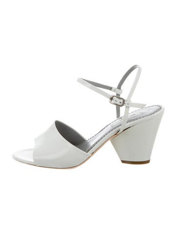 Marc Jacobs Leather Ankle Strap Wedges