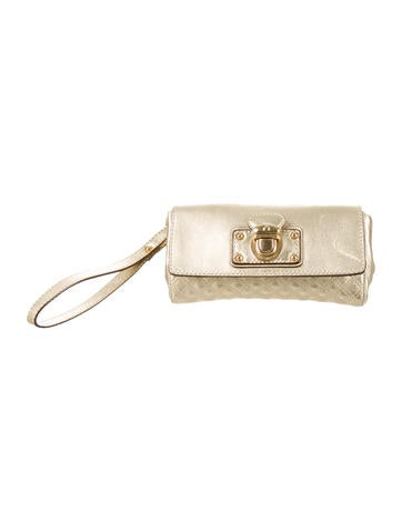 Marc Jacobs Metallic Quilted Leather Wristlet