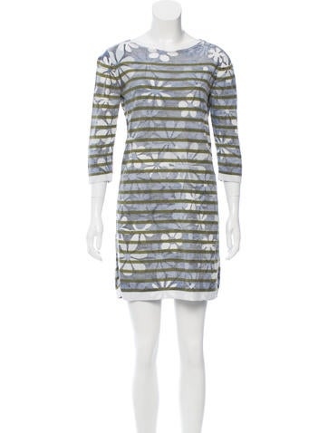 Marc Jacobs Printed Mini Dress None
