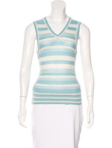 Marc Jacobs Cashmere-Blend Striped Top None