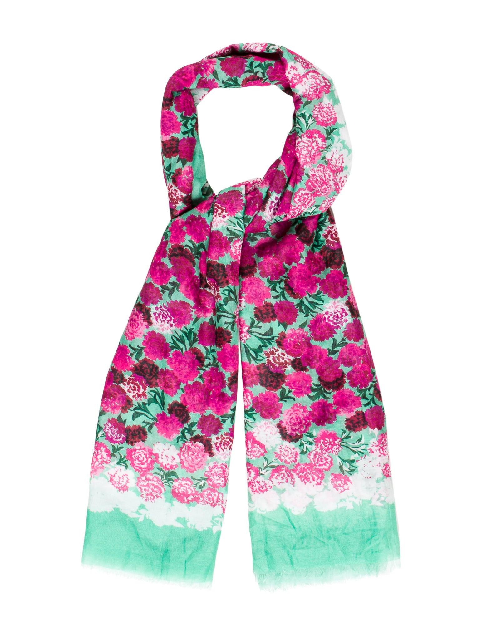 marc floral lightweight scarf accessories