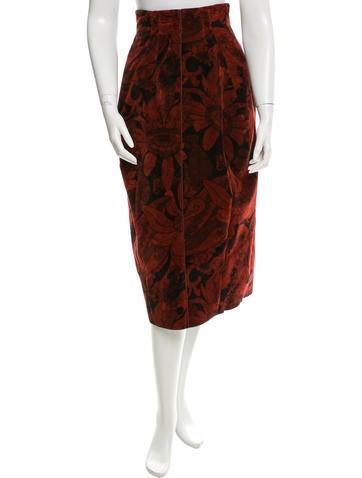 Marc Jacobs Velvet Midi Skirt None