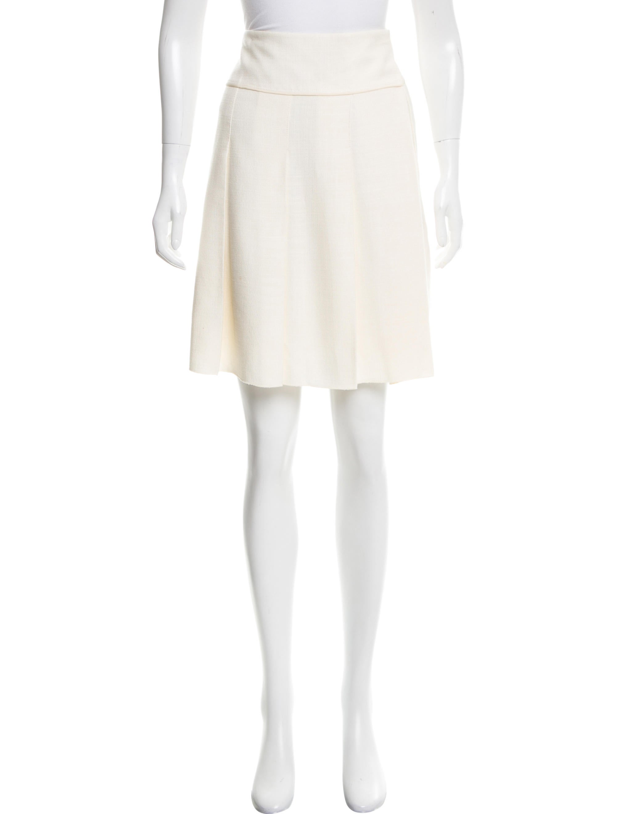marc knee length pleated skirt clothing
