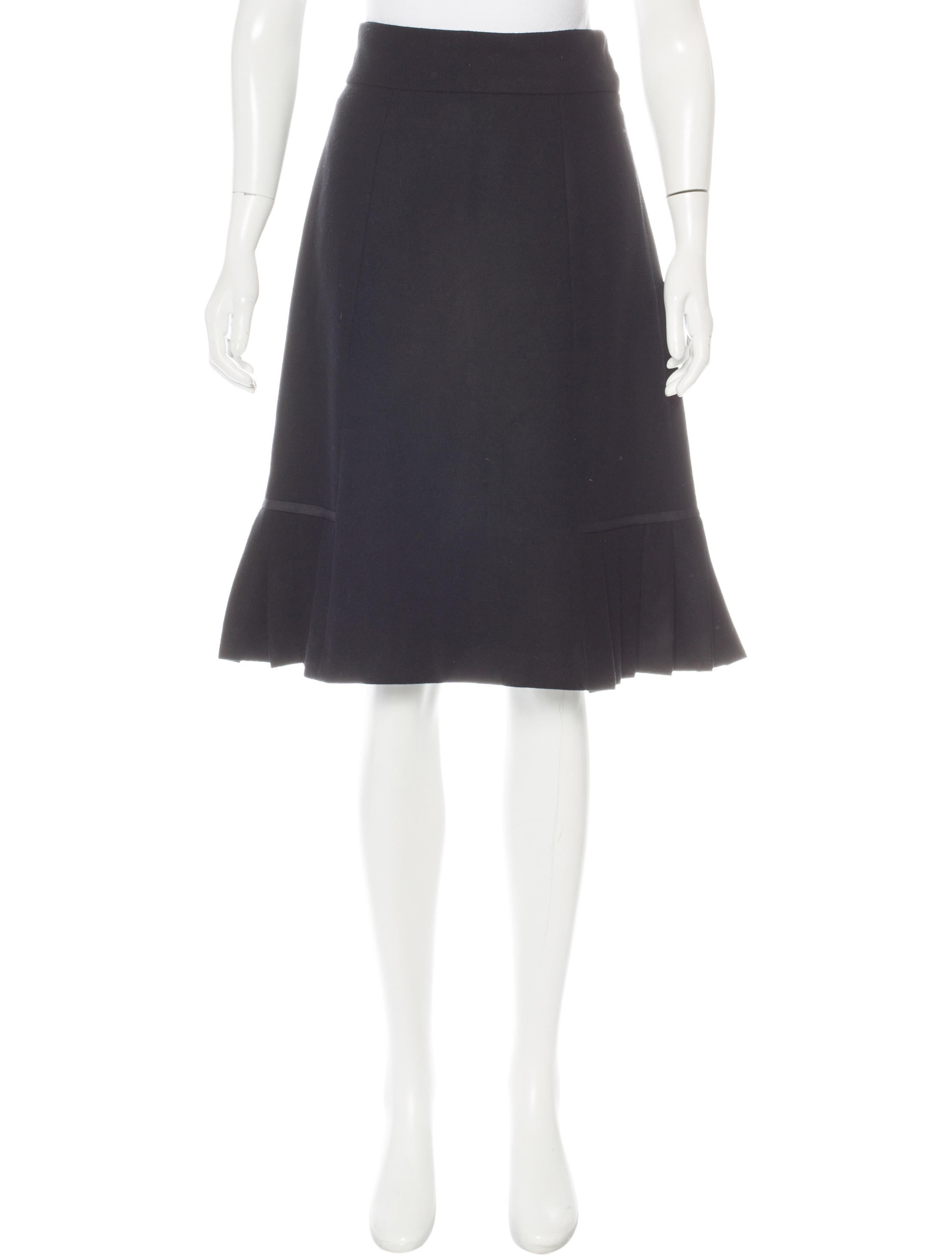 marc pleated wool skirt clothing mar42265 the
