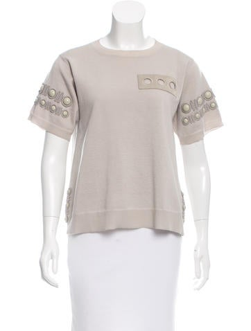 Marc Jacobs Silk & Wool Top None