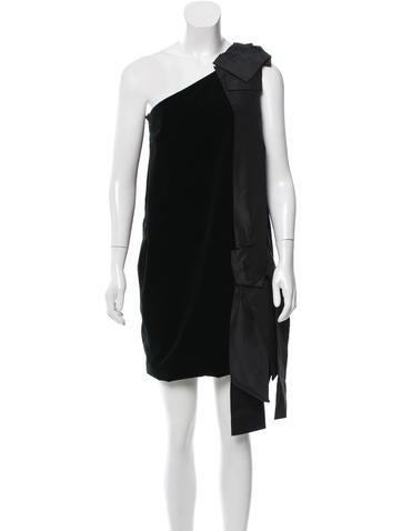 Marc Jacobs Embellished Velvet Dress None