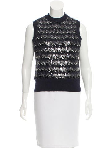 Marc Jacobs Sequined Wool Top None