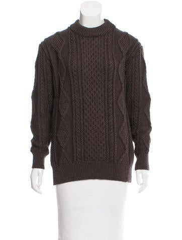 Marc Jacobs Cable Knit Wool Sweater None