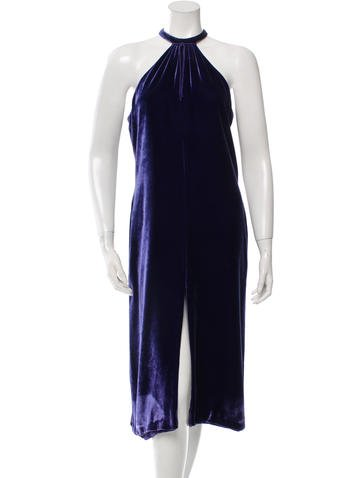Marc Jacobs Velvet Midi Dress None