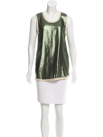 Marc Jacobs Sleeveless Metallic Top None