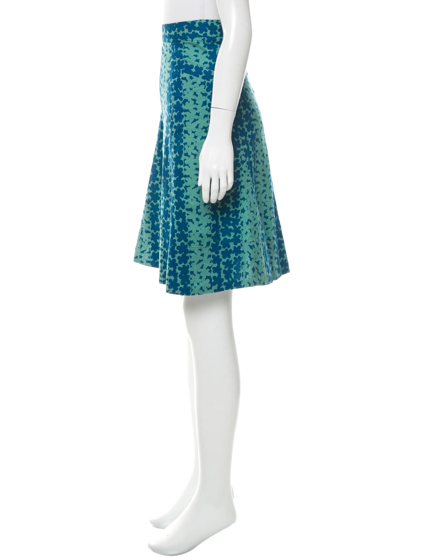 marc floral print knee length skirt clothing