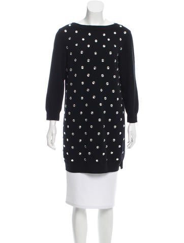 Marc Jacobs Knit Rhinestone-Embellished Tunic None