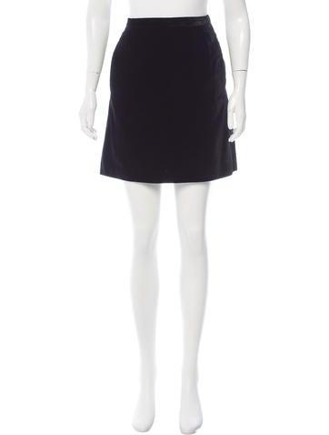 Marc Jacobs Velvet Mini Skirt None