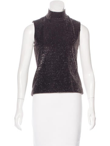 Marc Jacobs Metallic Sleeveless Top None