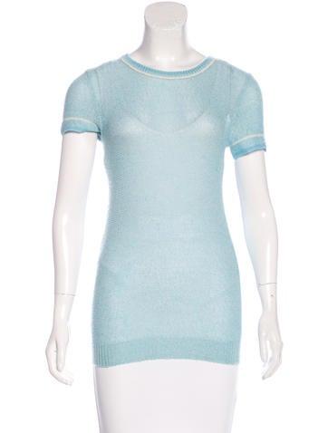 Marc Jacobs Cashmere-Blend Knit Top None