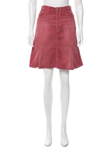 marc corduroy knee length skirt clothing