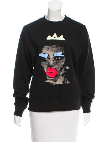 Marc Jacobs Digital Print Pullover Sweater None