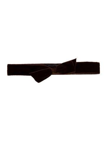Marc Jacobs Velvet Bow Belt None