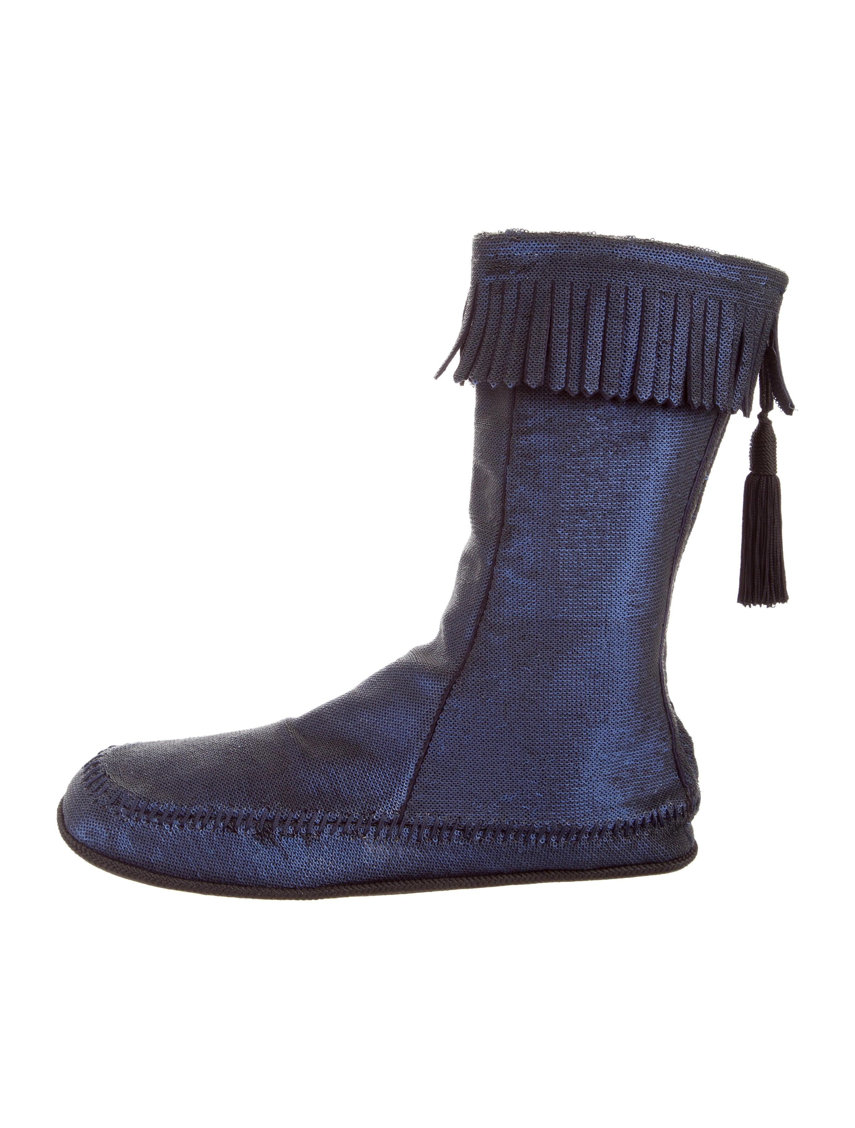marc fringe trimmed sequin boots shoes mar44682