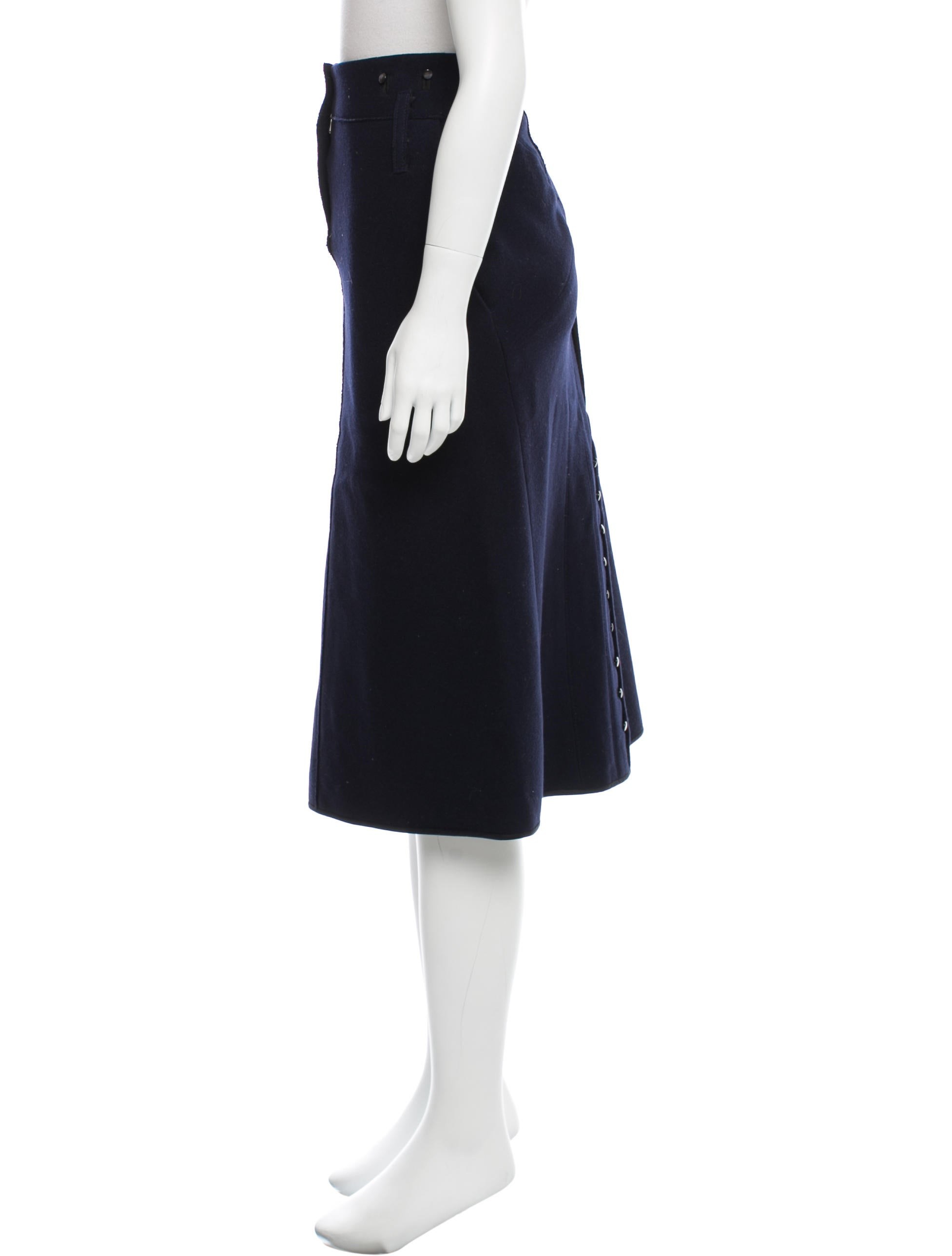 marc button accented midi skirt clothing