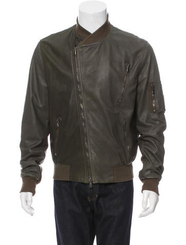 Marc Jacobs Leather Bomber Jacket None