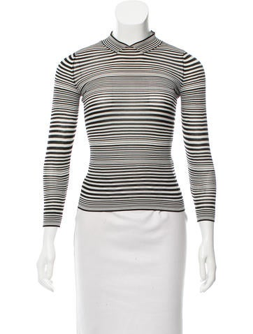 Marc Jacobs Striped Long Sleeve Top None